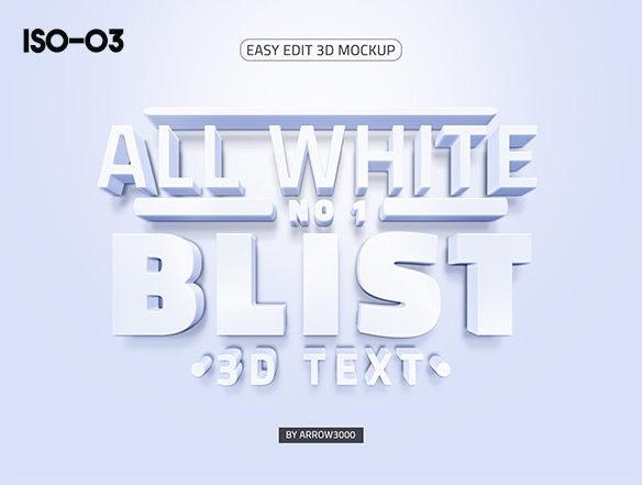 3D text logo mock up 6 موك اب نص ثلاثي الابعاد 3D text logo mock up