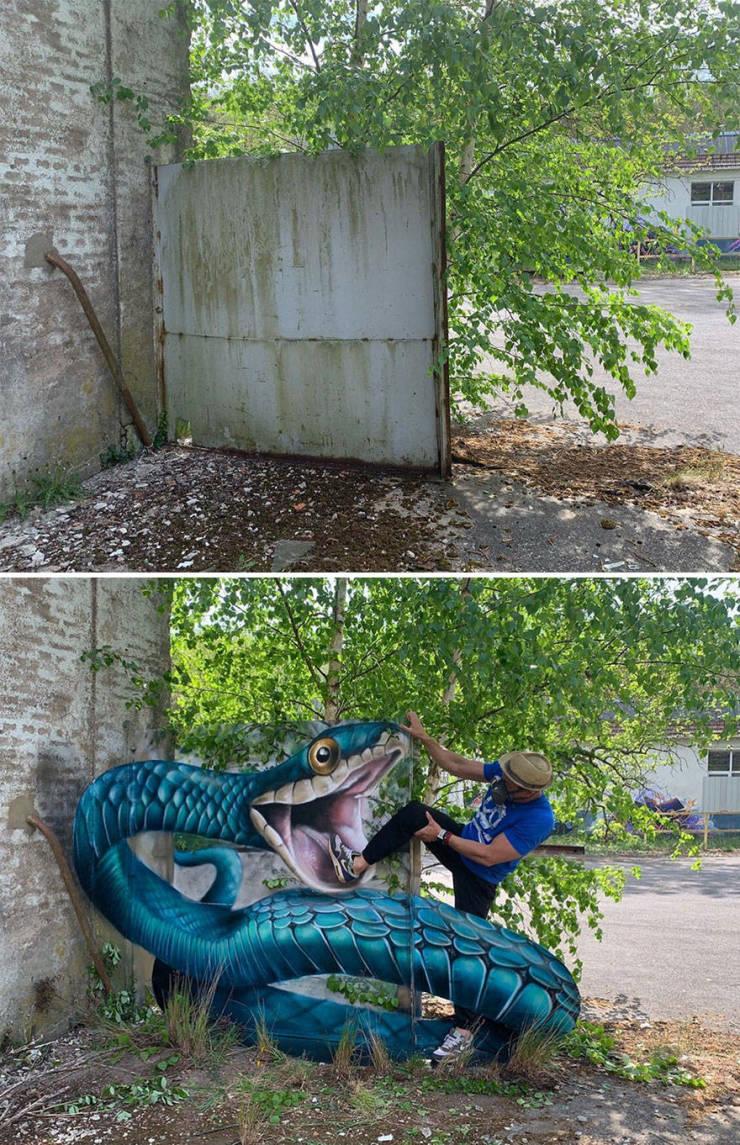 3d street art 1 فن الشارع ثلاثي الابعاد