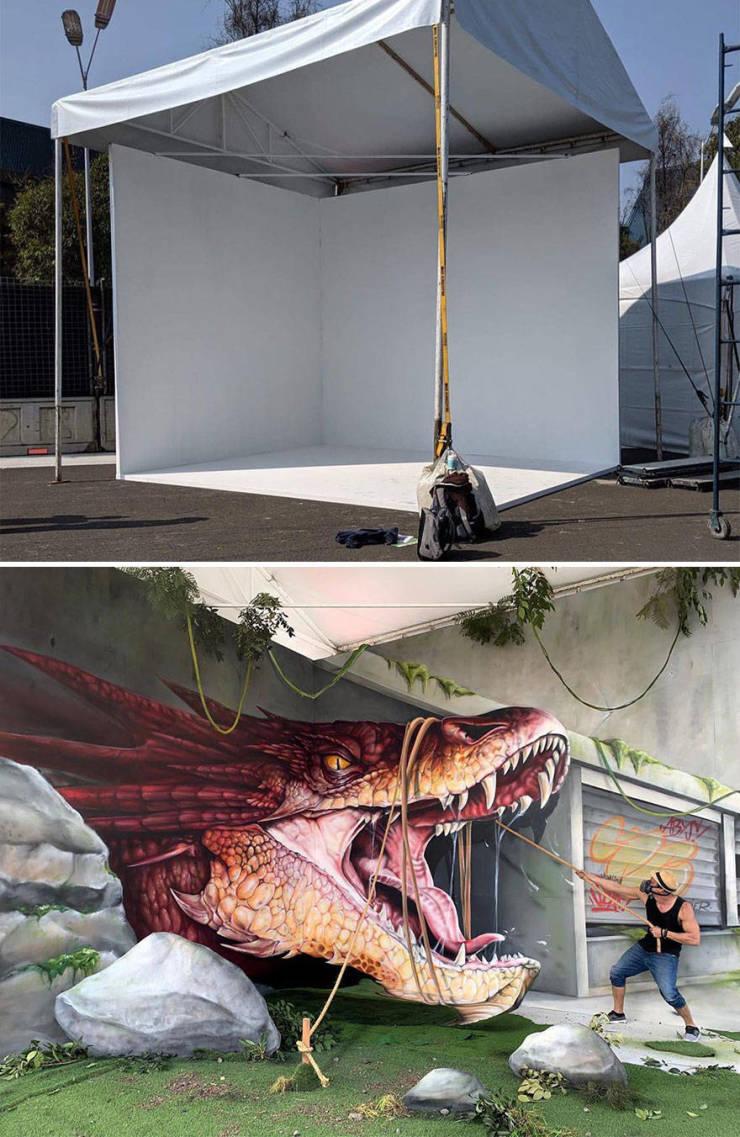 3d street art 10 فن الشارع ثلاثي الابعاد