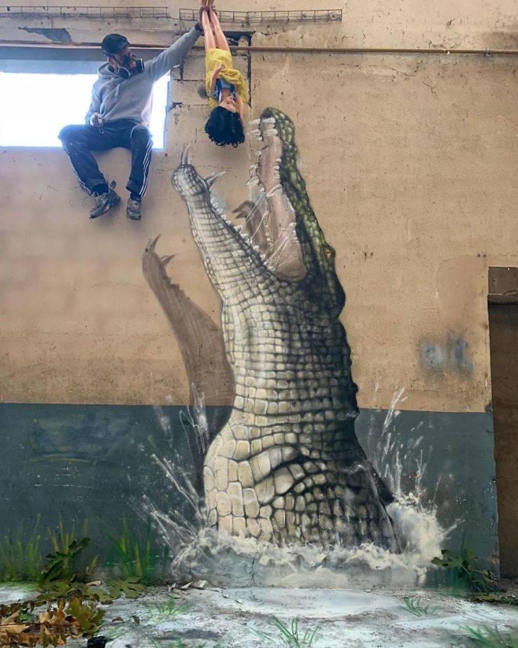 3d street art 18 فن الشارع ثلاثي الابعاد