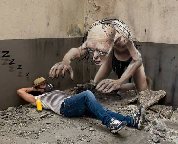 3d street art 30 فن الشارع ثلاثي الابعاد