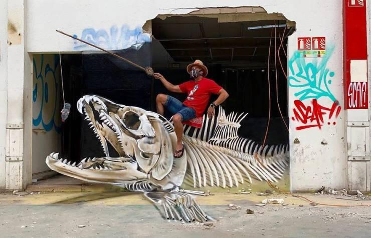 3d street art 40 فن الشارع ثلاثي الابعاد