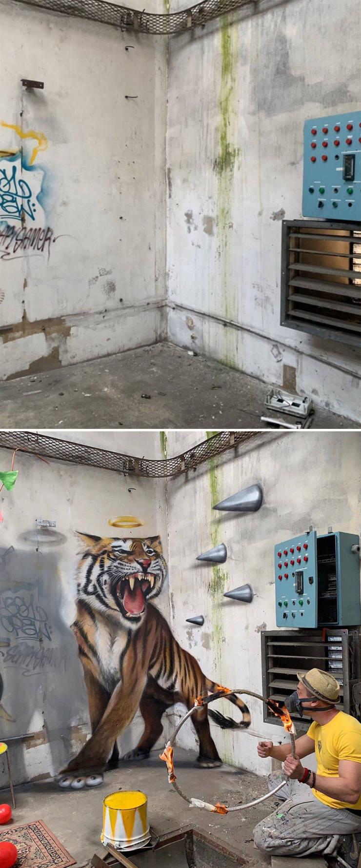 3d street art 6 فن الشارع ثلاثي الابعاد