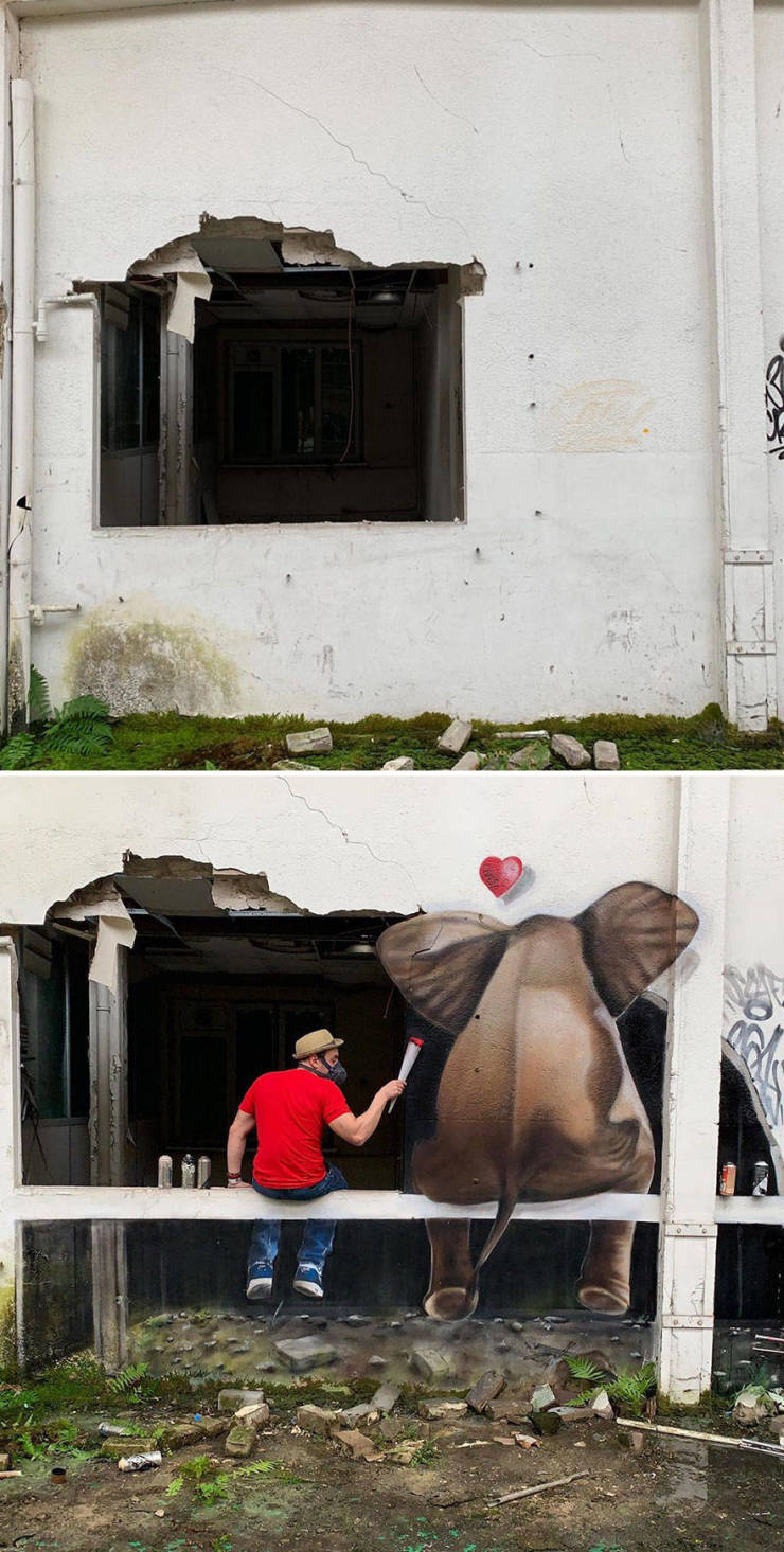 3d street art 8 فن الشارع ثلاثي الابعاد
