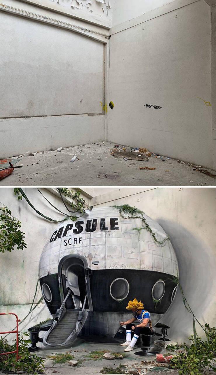 3d street art 9 فن الشارع ثلاثي الابعاد