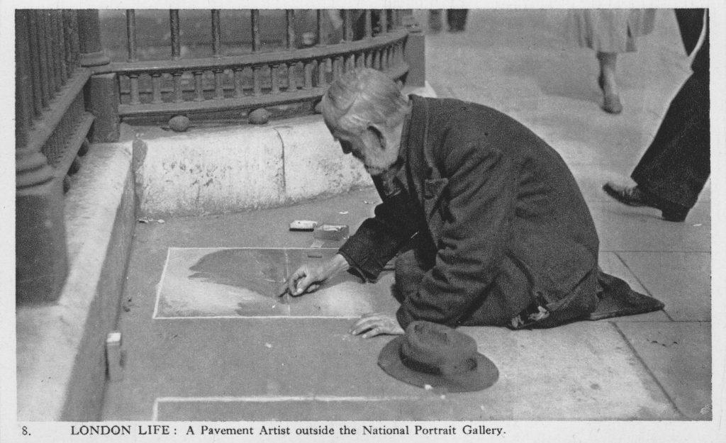 London Life in Postcards 26 فن الشارع ثلاثي الابعاد