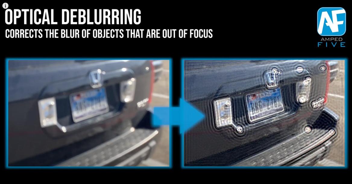 Optical Deblurring How to Deblur Objects in Amped FIVE برنامج توضيح صور كاميرات المراقبه المشوشه