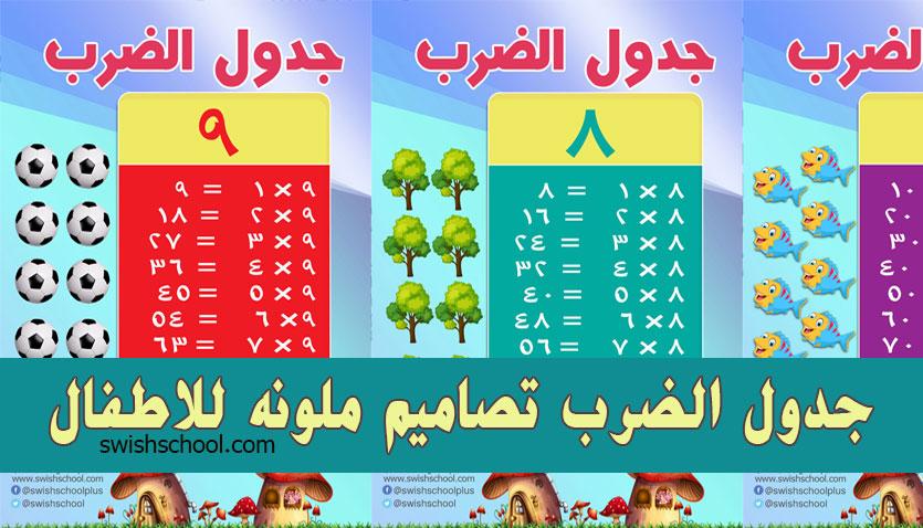 جدول الضرب كل عدد لوحده جدول الضرب عربي