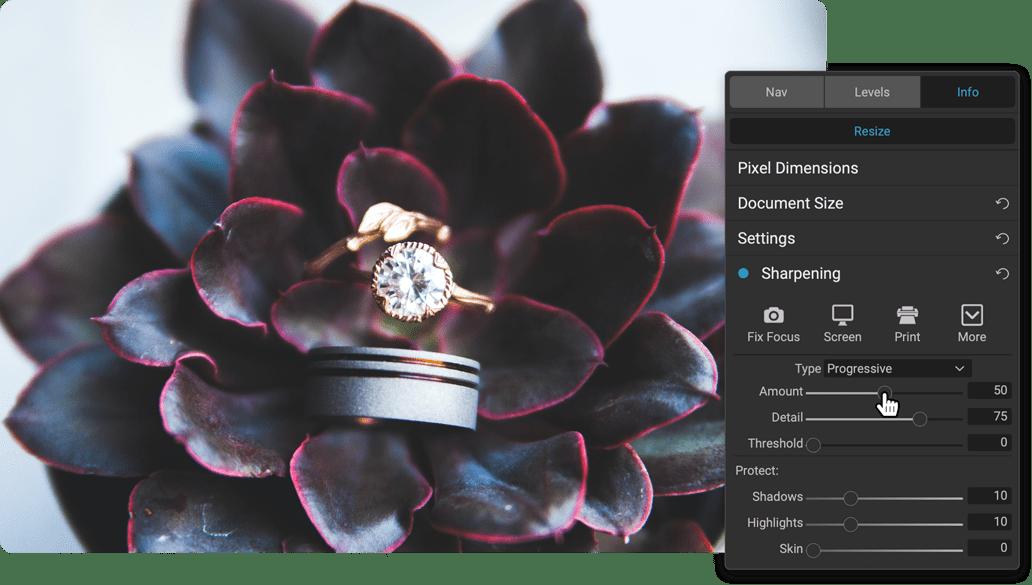 enlarge فلتر تحسين الصور العملاق ON1 Photo RAW