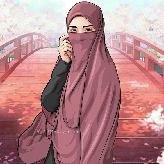 صور بنات منقبات مرسومه ديجيتال ارات 14 صور بنات منقبات مرسومه ديجيتال ارات